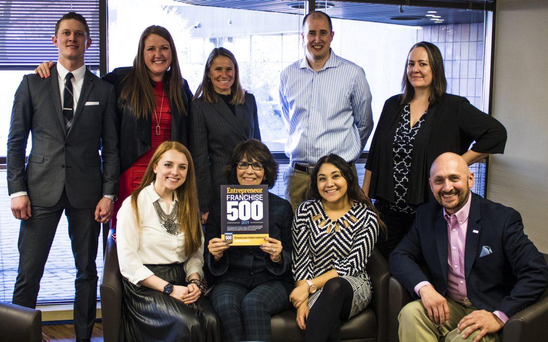 Crestcom International Named One of the Top Franchises of 2019 by Entrepreneur Magazine's Franchise 500® Ranking