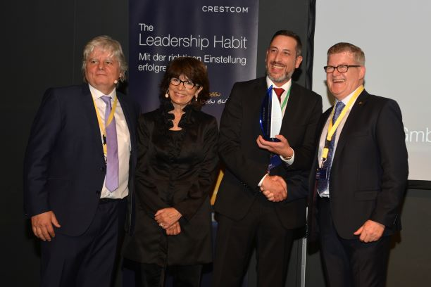 From left to right: Joachim Schulz, Crestcom Germany Area Director, Tammy Rivera Berberick, President and CEO of Crestcom International, client Niels Köhler, Leader of the Maximator Academy from Maximator GmbH, Hartmut Horst of Crestcom Wernigerode